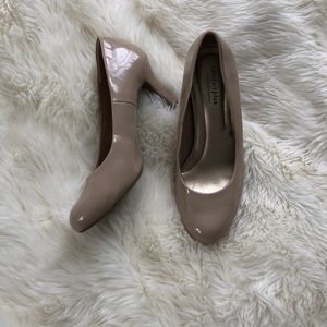 ComfortPlus Patent Leather Nude Heel